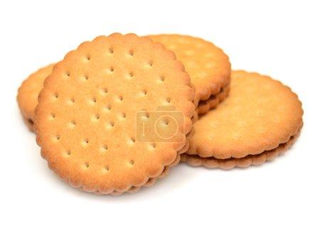 Photo pour Cookies isolés sur fond blanc - image libre de droit