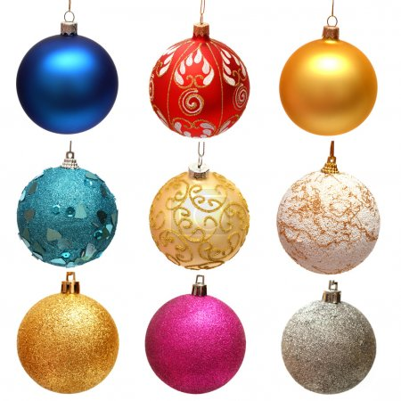 Collection of christmas balls