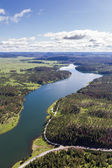 aerial view of the black hills, Pactola Lake