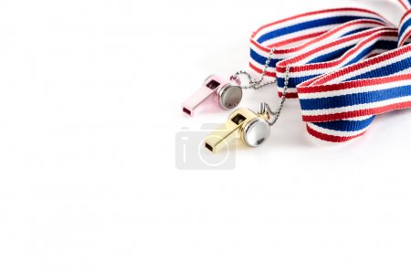 Multicolored Whistle-striped flag of Thailand on a...