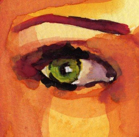 Photo pour Les illustrations jolie aquarelle sur bloc aquarelle - image libre de droit