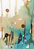 Umělecké zázemí akvarel na akvarel papír
