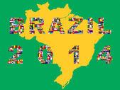 Brasilien Karte mit qualifizierten Nationen für 2014-Turnier