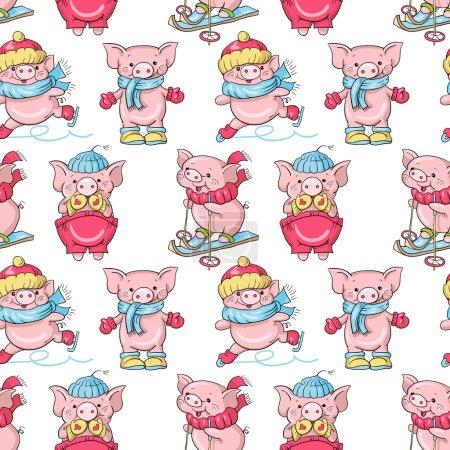 porcs de dessin animé