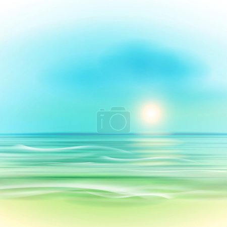 Illustration for Sea landscape.The illustration contains transparency and effects. EPS10 - Royalty Free Image