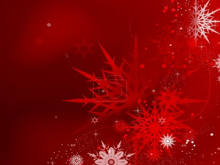 Photo for Red Christmas snowflakes - Royalty Free Image