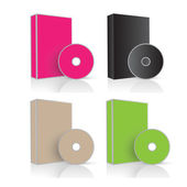 Creative Abstract Conceptual Design Art of Software Box and Disc Vectors