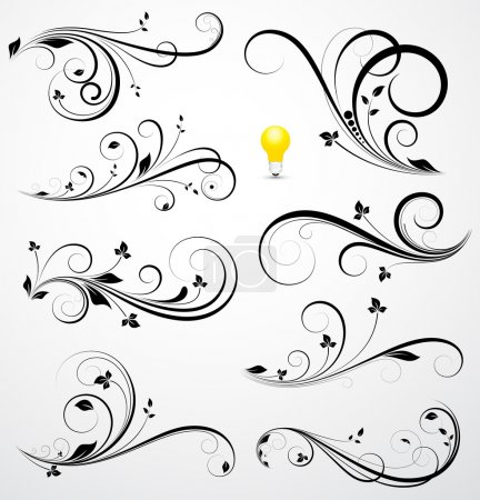 Illustration for Creative Abstract Conceptual Design Art of Swirls Vectors - Royalty Free Image