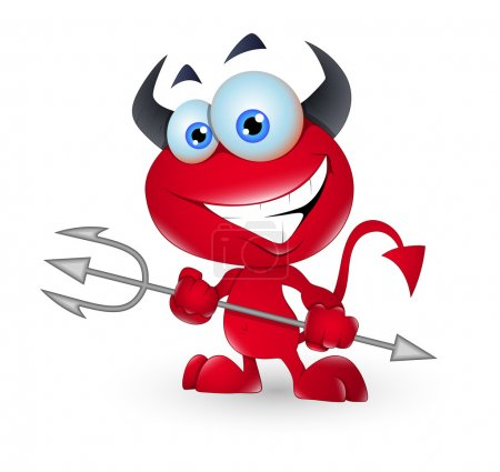 Creative Abstract Design Art of Cute Devil Monster...