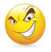 Smiley Emoticons Gesicht Vektor - listigen bösen Ausdruck