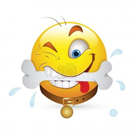 Smiley Emoticons Face Vector - Dog Expression