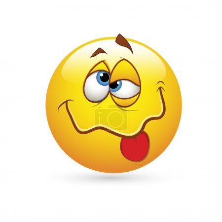 Illustration for Creative Conceptual Design Art of Smiley Emoticons Face Vector - Drunked Expression - Royalty Free Image