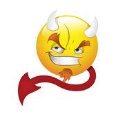 Smiley Emoticons Face Vector - Devil