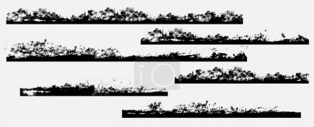 Grunge Dirty Frame Edges Vector