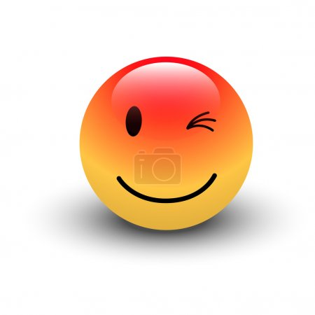 Illustration for Creative Abstract Conceptual Design Art of Winking Smiley - Royalty Free Image
