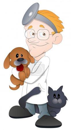 Animal Doctor - Cartoon Character - Vector Illustration