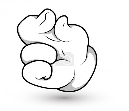 Cartoon Hand - Finger Pinch Vector Illustration
