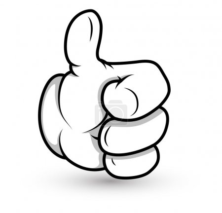 Illustration for Creative Conceptual Design Art of Cartoon Hand Thumbs up Vector Illustration - Royalty Free Image