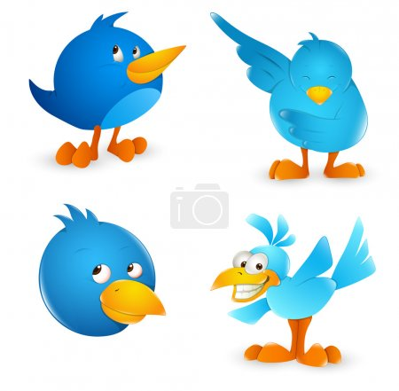 Twitter Bird Cartoon Icons
