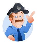 Traffic Police Officer Vector Illustration