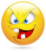 Smiley Vector Illustration - Evil Face