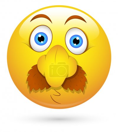 Smiley Vector Illustration - Funny Fake Face