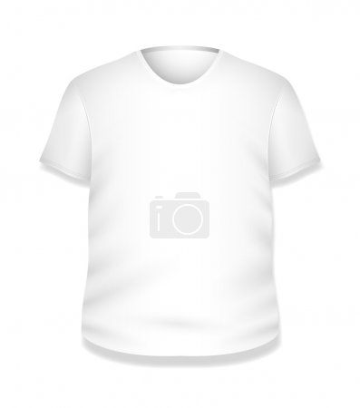 White T-shirt Design Vector Illustration Template