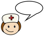Nurse Saying - Vector Cartoon Illustration