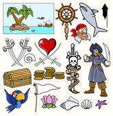 Pirate Vector Illustrations & Cartoons
