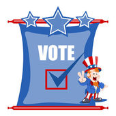 Election day scroll background with uncle sam