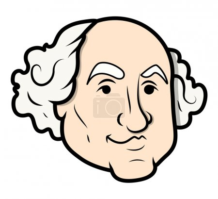 George Washington Cartoon Clip-Art Vector