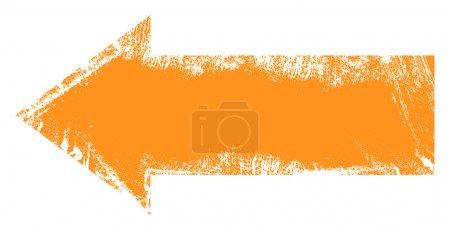 Illustration pour Dessin Art de Grunge Flèche abstraite Conception vectorielle - image libre de droit