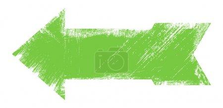 Illustration pour Dessin Art de Green Grunge Arrow Illustration vectorielle - image libre de droit
