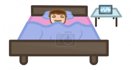 Illustration for Drawing Art of Injured Patient in Sleeping in Hospital Vector Illustration - Royalty Free Image