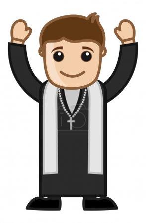 Pastor Cartoon Vector