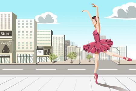Ballet dancer in the city