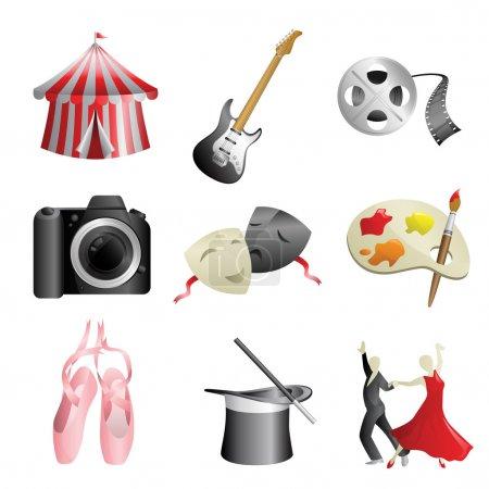 Arts entertainment icons