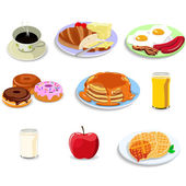 Breakfast food icons