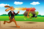 Tortoise and hare racing