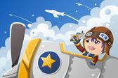 Dítě hraje s letadlem