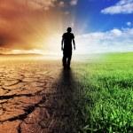 A Climate Change Concept Image...