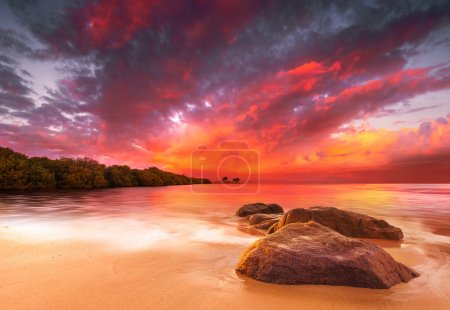Photo for A Peaceful tropical scene at sunset - Royalty Free Image
