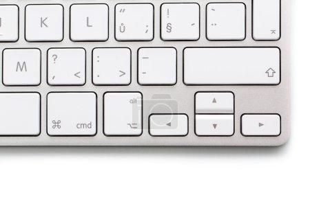 Modern keybord on white