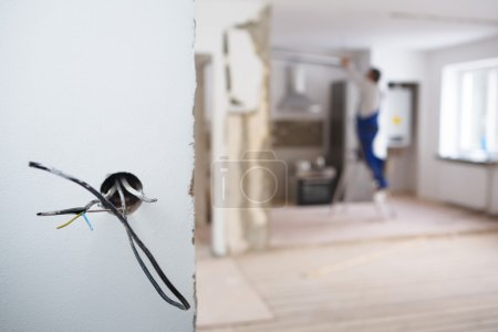 Electrical installations in apartment