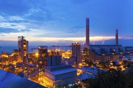 Power plants in Hong Kong along the coast