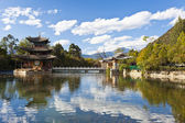 Lijiang old town and Jade Dragon Snow Mountain in China