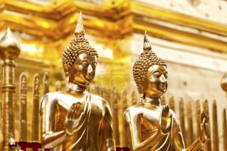 Buddha statues in Thailand temple
