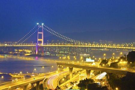Bridge in modern city