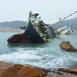 Wreck on the coast in Hong Kong...