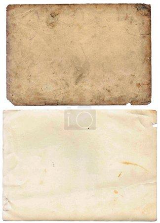 Photo pour Ensemble de plusieurs feuilles de papier ancien. Vintage photo et livre des pages, des cartes, des pièces isolés sur fond blanc - image libre de droit